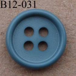 bouton 12 mm couleur gris vert 4 trous diamètre 12 mm