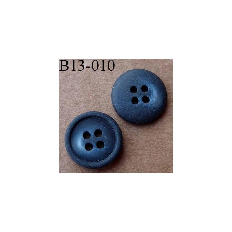 Bouton diam tre 13 mm 4 trous couleur mat bleu marine - Couleur marine fonce ...