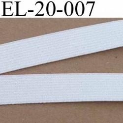 élastique plat  largeur 20 mm couleur blanc  souple superbe  prix au mètre