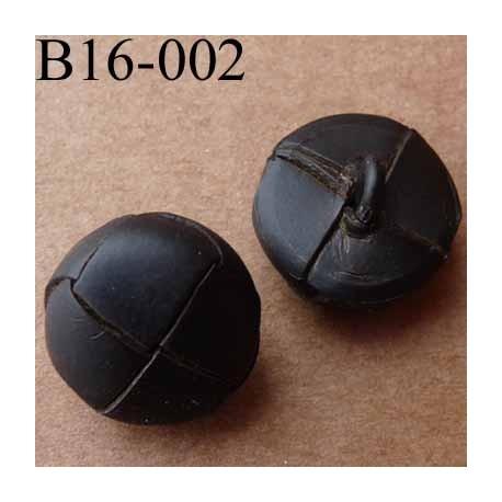 bouton 16 mm  couleur marron façon cuir accroche un anneau diamètre 16 millimètres