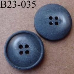bouton 23 mm  couleur gris marron dégradé mat 4 trous diamètre 23 millimètres