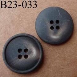bouton 23 mm  couleur marron foncé dégradé mat 4 trous diamètre 23 millimètres