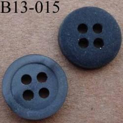 bouton 13 mm couleur anthracite mat avec reflets  4 trous diàmètre 13 millimètres