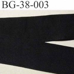 galon ruban gros grain couleur noir très très solide et souple polyester largeur 38 mm prix au mètre
