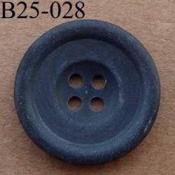 bouton 25 mm  couleur gris anthracite mat 4 trous diamètre 25 millimètres
