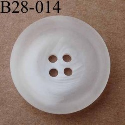 bouton 28 mm  couleur blanc dégradé translucide 4 trous diamètre 28 millimètres