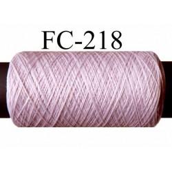bobine de fil mousse polyester texturé fil n° 100 couleur parme longueur de la bobine 200 mètres bobiné en France