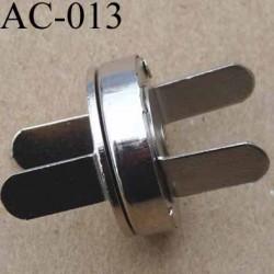 fermoir métallique aimanté 18 mm couleur argent vendu à l'unité
