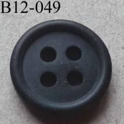 bouton 12 mm couleur gris foncé mat  4 trous diamètre 12 mm