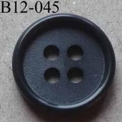bouton 12 mm couleur gris foncé 4 trous diamètre 12 mm