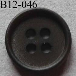 bouton 12 mm couleur vert kaki foncé 4 trous diamètre 12 mm