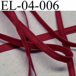 élastique plat et fin polyamide élasthane largeur 4 mm couleur rouge diorine prix au mètre