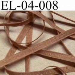 élastique plat et fin polyamide élasthane largeur 4 mm couleur marron nougatine prix au mètre
