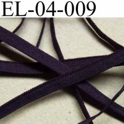 élastique plat et fin polyamide élasthane largeur 4 mm couleur nuit violet foncé prix au mètre