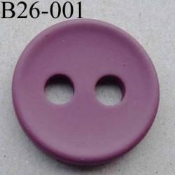 bouton 26 mm couleur bordeaux  2 gros trous (diamètre 5 mm) épaisseur 4 mm