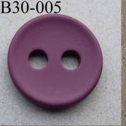 bouton 30 mm  couleur bordeaux prune mat 2 gros trous (diamètre 5 mm) épaisseur 4 mm