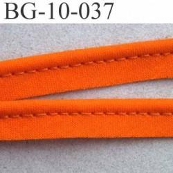 biais galon ruban passepoil couleur orange avec cordon intérieur coton 7 fils largeur 10 mm prix au mètre