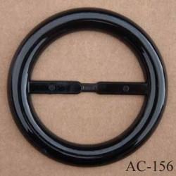 grande boucle anneau étrier plastique noir brillant  diamètre extérieur 85 mm diamètre intérieur 60 mm