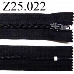 fermeture éclair 25 cm noir non séparable zip nylon