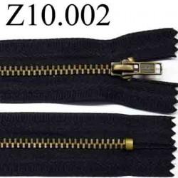 fermeture zip  10 cm couleur noir non séparable zip métal