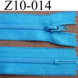 fermeture zip à glissière longueur 10 cm couleur bleu turquoise non séparable largeur 2.5 cm glissière nylon largeur 4 mm