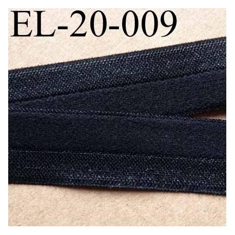 élastique noir plat fin souple largeur 20 mm, utilisé pour , tissus en lycra ou extensibles , polyester  prix au mètre