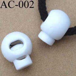 arrêt cordon  stop cordon rond blanc 18 mm vendu à l'unité