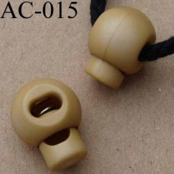 arrêt cordon stop cordon rond beige caramel lumineux 18 mm vendu à l'unité