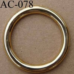 anneau boucle etrier plastique couleur doré diamètre extérieur 40 mm intérieur 30 mm vendu à l'unité