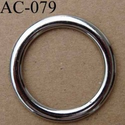 anneau boucle etrier plastique couleur chromé diamètre extérieur 40 mm intérieur 30 mm vendu à l'unité