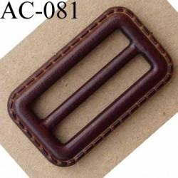 boucle anneau étrier simili cuir marron façon sellier 52 mm vendu à l'unité