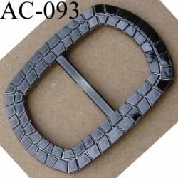 boucle anneau étrier plastique effet métal brillant 65 mm vendu à l'unité