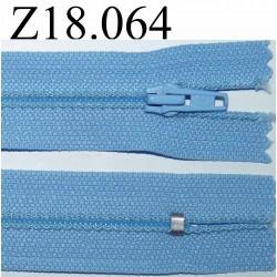 fermeture éclair 18 cm couleur bleu non séparable zip nylon