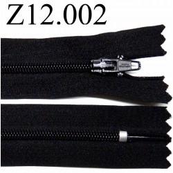 fermeture zip à glissière longueur 12 cm couleur noir zip nylon