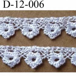 dentelle crochet synthétique largeur 12 mm couleur blanc provient d'une ancienne mercerie parisienne prix au mètre
