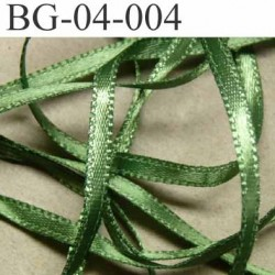 biais galon ruban satin couleur vert brillant lumineux double face très solide largeur 4 mm prix au mètre
