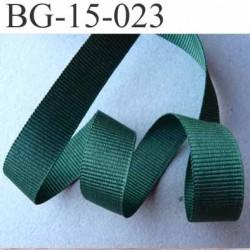 biais galon ruban gros grain couleur vert  très solide souple en polyester double face largeur 15 mm prix au mètre