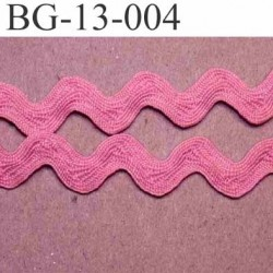 ruban galon croquet serpentine galon plat largeur 13 mm couleur rose prix au mètre