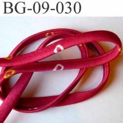 cache armature élastique élastane lycra  largeur 9 mm épaisseur 3.6 mm couleur fushia superbe prix au mètre
