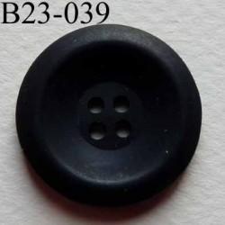 bouton 23 mm couleur noir mat 4 trous diamètre 23 millimètres