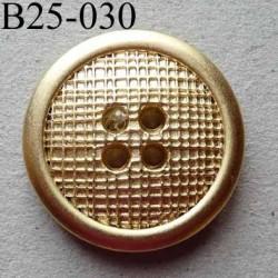 bouton 25 mm pvc  couleur doré 4 trous diamètre 25 millimètres épaisseur 6 mm