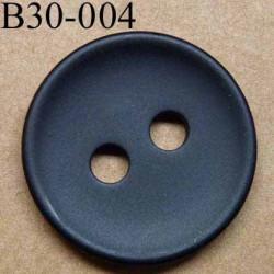 bouton 30 mm  couleur noir mat 2 gros trous (diamètre 5 mm)