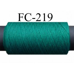 bobine de fil mousse polyester texturé super lubrifié n° 100  couleur vert longueur 200  mètres bobiné en France
