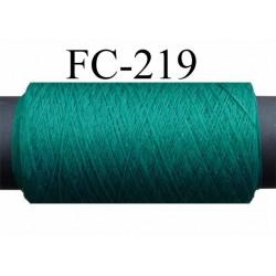 bobine de fil mousse polyester texturé super lubrifié n° 100  couleur vert longueur 500  mètres  bobiné en France