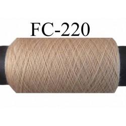 bobine de fil polyester n° 120 couleur beige longueur 500 mètres bobiné en france
