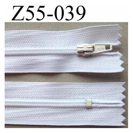 fermeture zip glissi re longueur 55 cm largeur 2 5 cm couleur blanc non s parable zip nylon. Black Bedroom Furniture Sets. Home Design Ideas