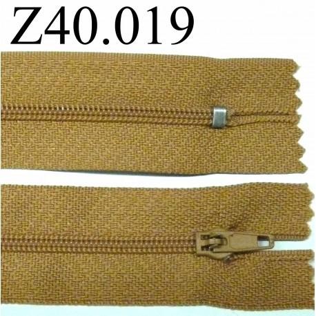 fermeture 40 cm couleur marron zip nylon