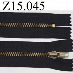 fermeture zip à glissière 15 cm gris anthracite non séparable zip métal