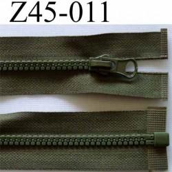 fermeture zip à glissière longueur 45 cm couleur vert kaki zip moulé nylon