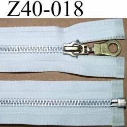 fermeture zip à glissière longueur 40 cm  séparable couleur blanc zip métal